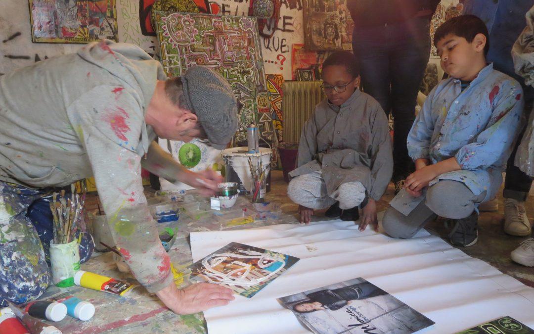 Un atelier haut en couleurs avec Willy Fruchart